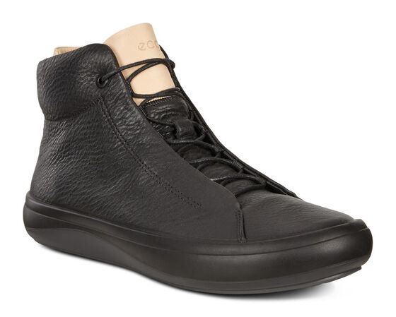 ECCO Mens Kinhin Boot (BLACK/VEG TAN)