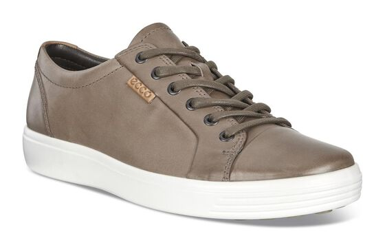 ECCO Mens Soft 7 Sneaker (NAVAJO BROWN/LION)