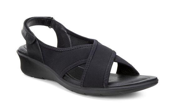 ECCO Felicia Band Sandal (BLACK/BLACK)