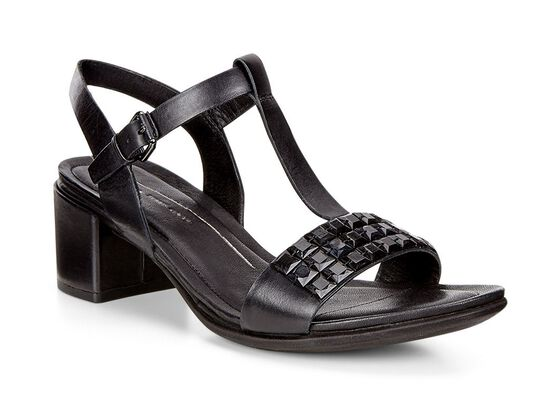ECCO Shape 35 Studded Sandal (BLACK)