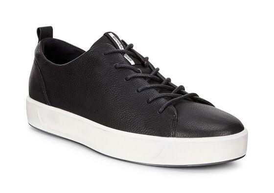 ECCO Mens Soft 8 Sneaker (BLACK)