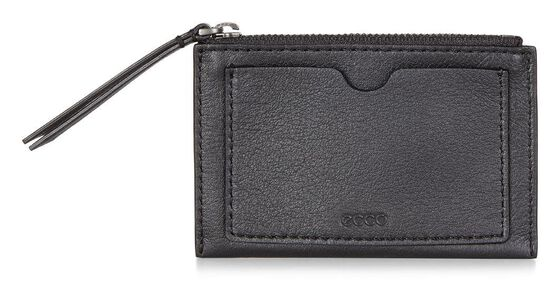ECCO Sculptured Card Case (BLACK)