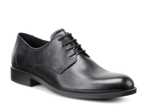 ECCO Mens Harold Plain Toe Tie (BLACK)