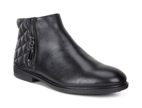 ECCO Womens Touch 15 B Boot (BLACK/BLACK)
