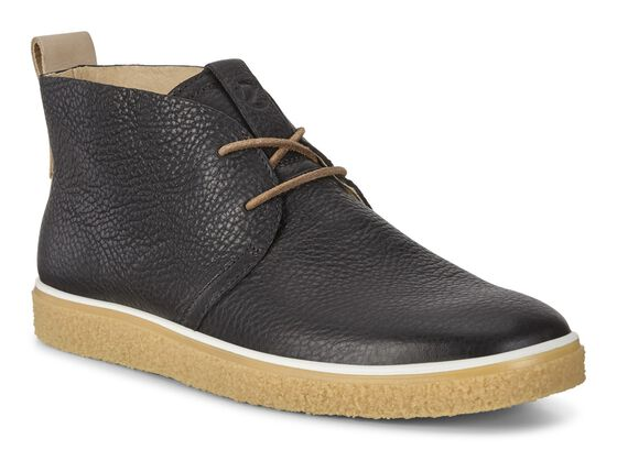ECCO Mens Crepetray Chukka (BLACK/POWDER)