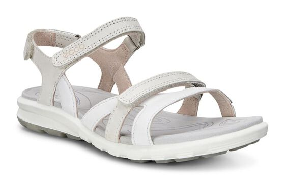 ECCO Womens Cruise Sandal (WHITE/GRAVEL)