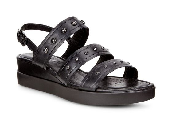 ECCO Touch 3-Strap Sandal PlateauECCO Touch 3-Strap Sandal Plateau in BLACK (01001)