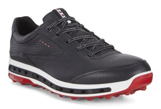 ECCO Mens Golf Cool Pro (BLACK/BRICK)