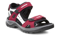 ECCO Womens Offroad Sandal (CHILI RED/CONCRETE/BLACK)