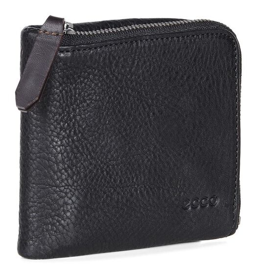 ECCO Ioma Casual Double Wallet (BLACK)
