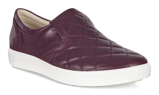 ECCO Womens Soft 7 Quilted Slip On (MAUVE)